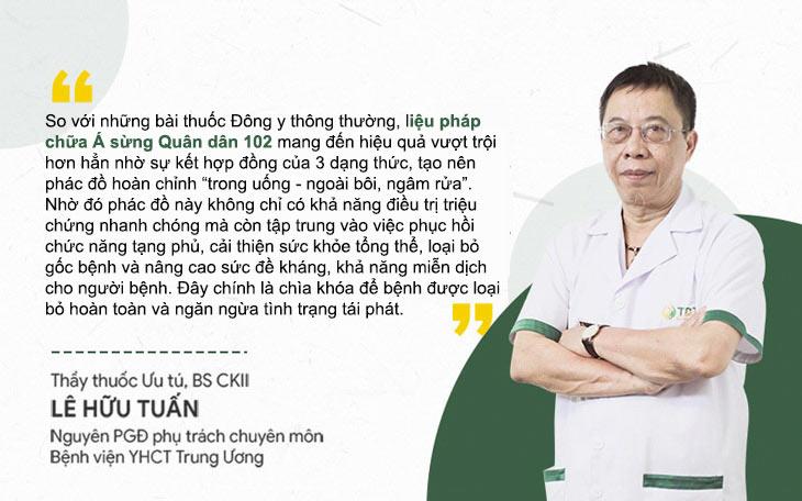 Đánh giá của bác sĩ Lê Hữu Tuấn về giải pháp chữ á sừng Quân dân 102