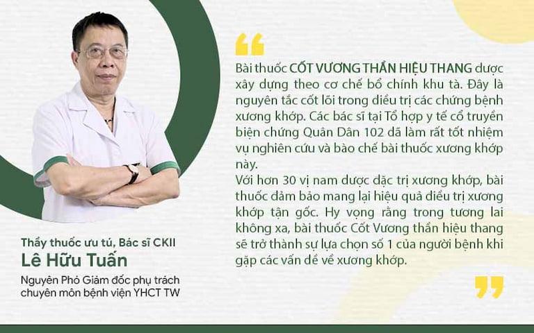 Bác sĩ Lê Hữu Tuấn nhận xét về Cốt Vương thần hiệu thang