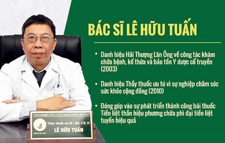BS Lê Hữu Tuấn - 1 trong những chuyên gia YHCT hàng đầu dày dặn kinh nghiệm