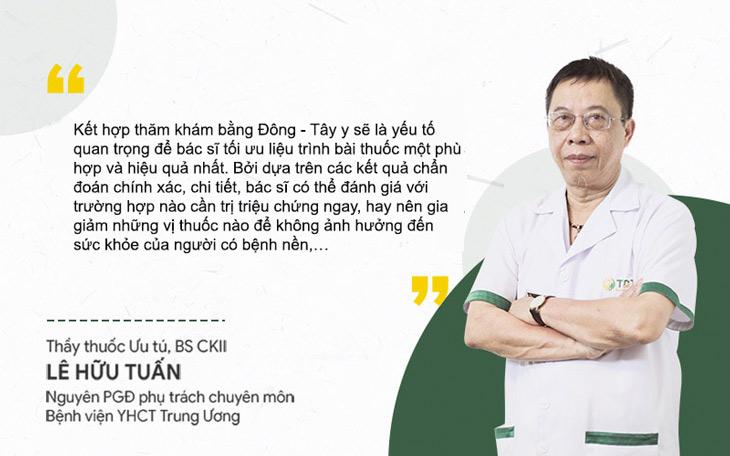 Bác sĩ Lê Hữu Tuấn đánh giá về việc kết học Đông - Tây y trong chẩn đoán, điều trị viêm da cơ địa
