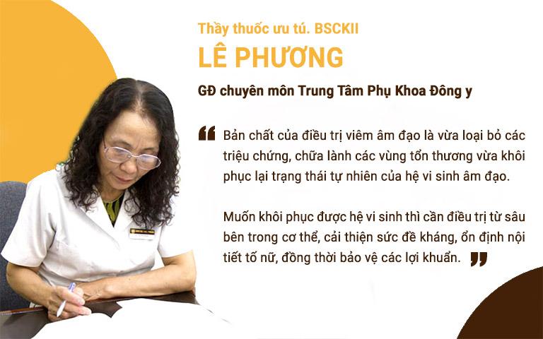 Bác sĩ Lê Phương chia sẻ về bản chất của việc điều trị viêm âm đạo