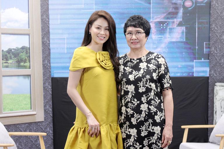 Diễn viên Lương Thu Trang và bác sĩ Nguyễn Thị Nhuần xuất hiện trong chương trình Cơ thể bạn nói gì? phát sóng trên VTV2