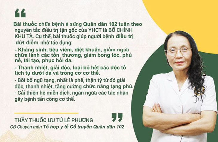 Bác sĩ Lê Phương chia sẻ về cơ chế điều trị của bài thuốc