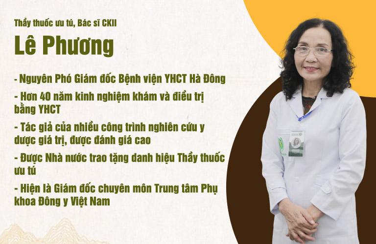Bác sĩ Phương tốt nghiệp ĐH Y HN và có hơn 40 năm kinh nghiệm khám và điều trị bệnh phụ khoa