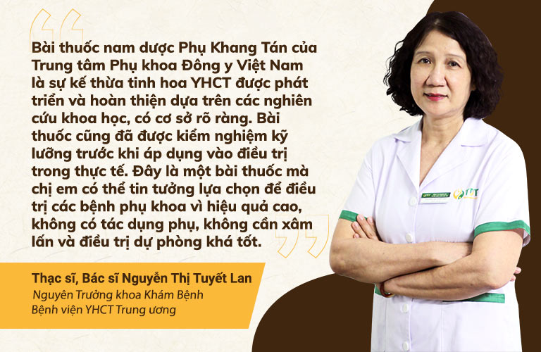 Bác sĩ Tuyết Lan đánh giá cao Phụ Khang Tán