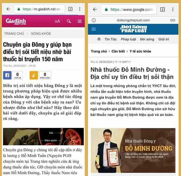 Báo chí đưa tin về bài thuốc Đỗ Minh Bài Thạch Khang