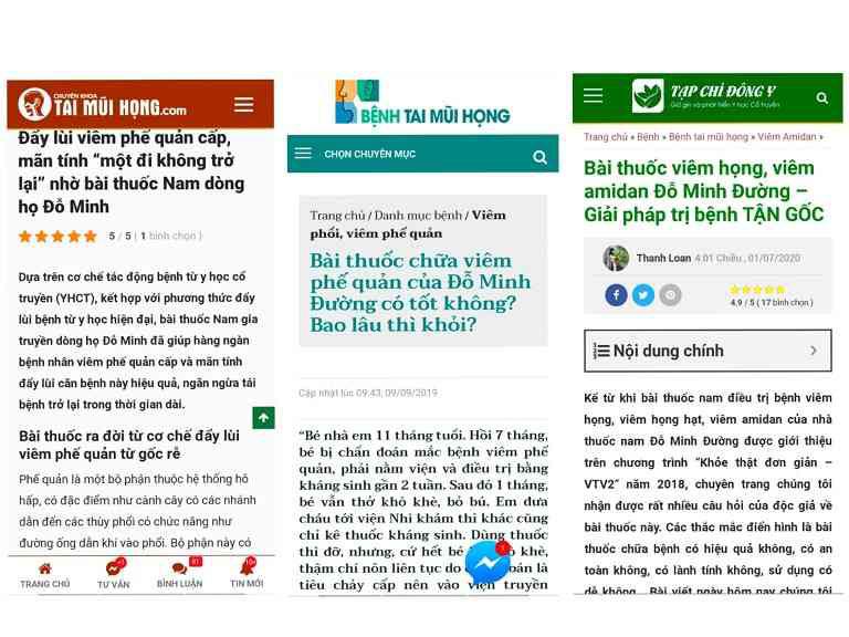 Một số bài báo nói về bài thuốc nam Đỗ Minh Đường