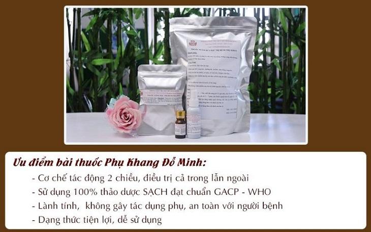 Ưu điểm bài thuốc chữa bệnh phụ khoa Phụ Khang Đỗ Minh
