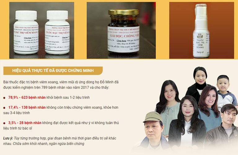 DV Thanh Tú và một số bệnh nhân khác đã tin tưởng chữa viêm xoang bằng bài thuốc nam Đỗ Minh Đường
