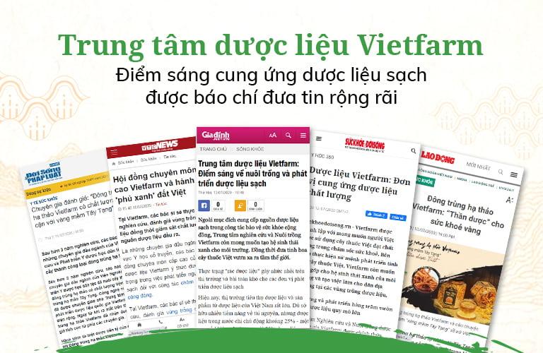 Truyền thông báo chí đánh giá cao về Trung tâm dược liệu Vietfarm