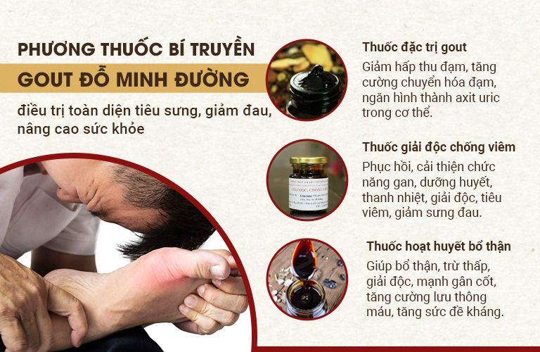 Công dụng bài thuốc Gout Đỗ Minh