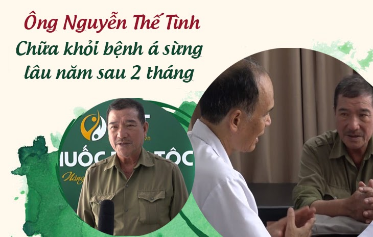 Bệnh nhân Nguyễn Thế Tình và bác sĩ tại Trung tâm Thuốc dân tộc
