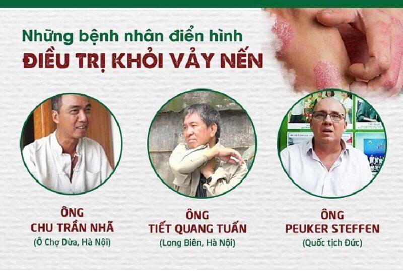 Các bệnh nhân đã điều trị khỏi vảy nến tại Thuốc dân tộc