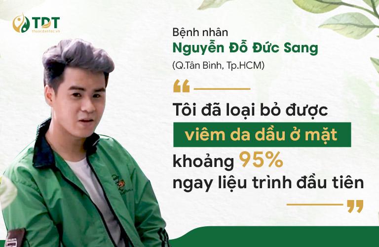 Anh Sang giảm đáng kể các triệu chứng bệnh sau 1 tháng điều trị