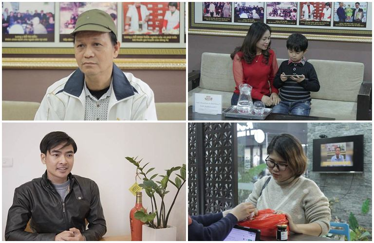 Một số bệnh nhân đã điều trị bệnh viêm họng, viêm amidan tại Đỗ Minh Đường (Chú Khôi - Trên cùng, bên trái)