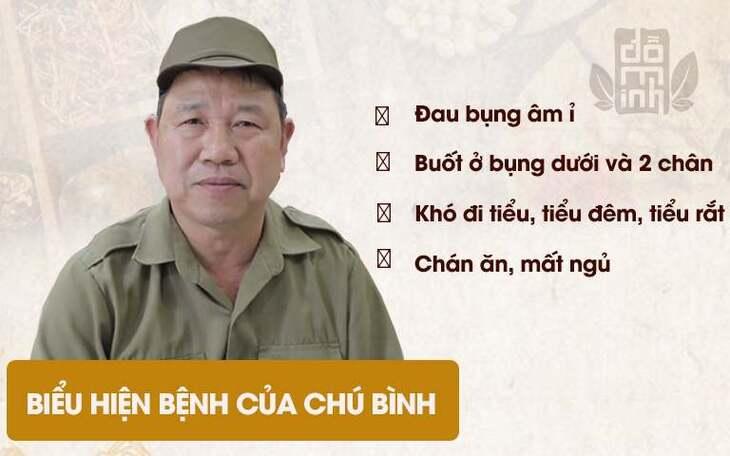 Tình trạng sức khỏa của chú Bình trong lần thăm khám đầu tiên tại nhà thuốc Đỗ Minh Đường