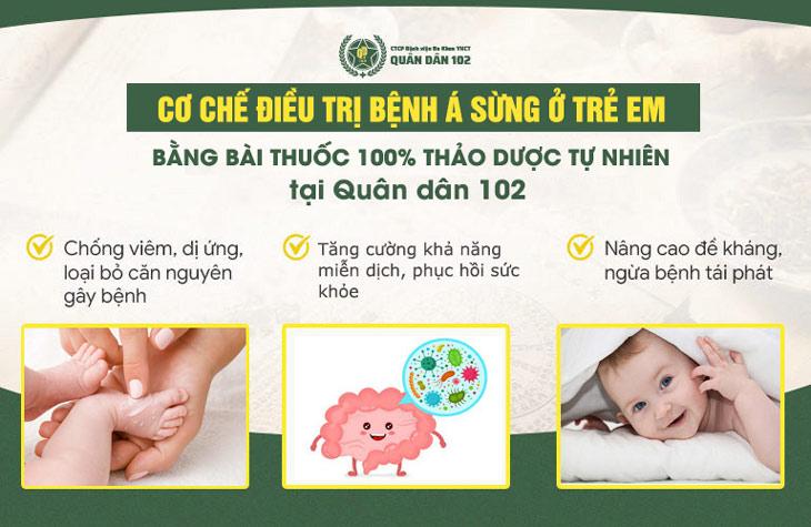 Bài thuốc mang đến hiệu quả cao nhờ cơ chế trị bệnh tận gốc, ngăn ngừa á sừng tái phát ở trẻ