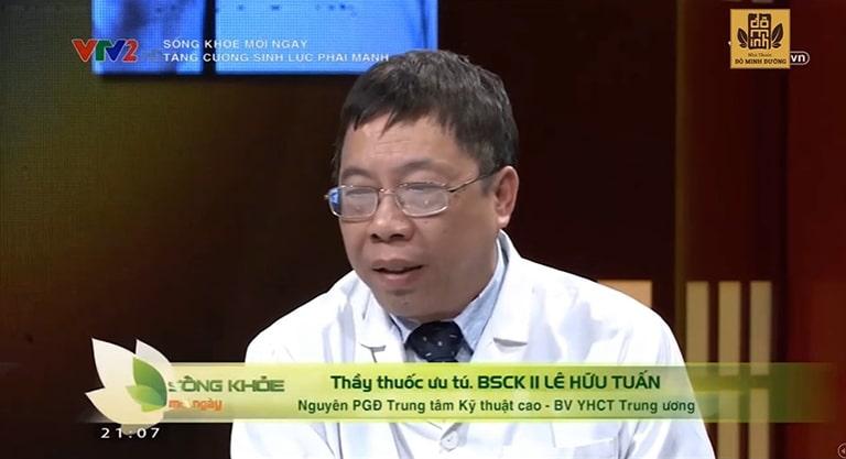 Thầy thuốc Lê Hữu Tuấn trên chương trình VTV2, đánh giá cao bài thuốc nam khoa của Đỗ Minh Đường
