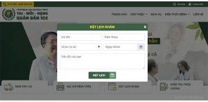 Đặt lịch khám dễ dàng trên website bệnh viện