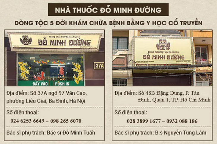 địa chỉ nhà thuốc Đỗ Minh Đường chữa bệnh phụ khoa