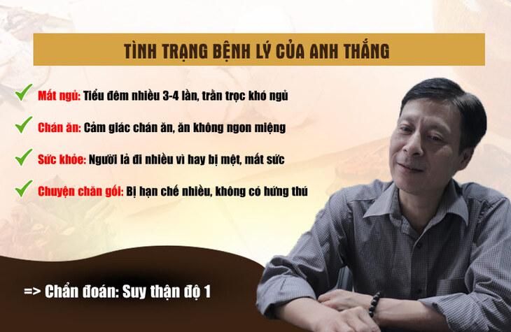 Tình trạng sức khỏe của anh Nguyễn Mạnh Thắng khi bị căn bệnh suy thận độ 1 đeo bám