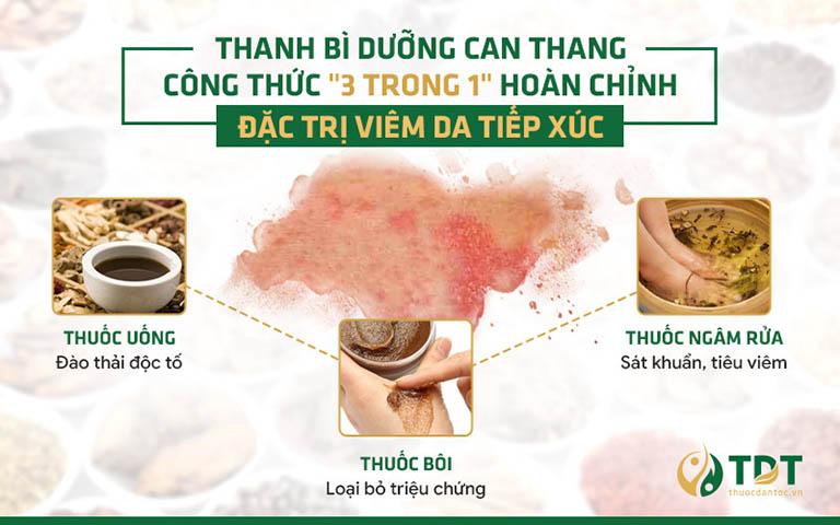 Hiệu quả trị viêm da tiếp xúc của bài thuốc