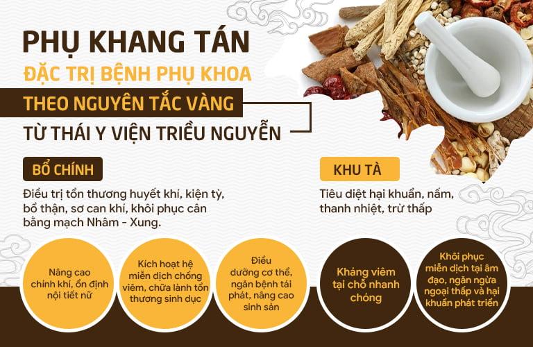 Nguyên tắc vàng từng được Thái Y Viện sử dụng được ứng dụng trong Phụ Khang Tán