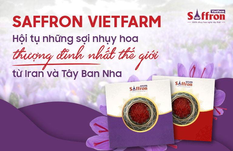 Saffron Vietfarm phân phối nhụy hoa nghệ tây Iran và Tây Ban Nha