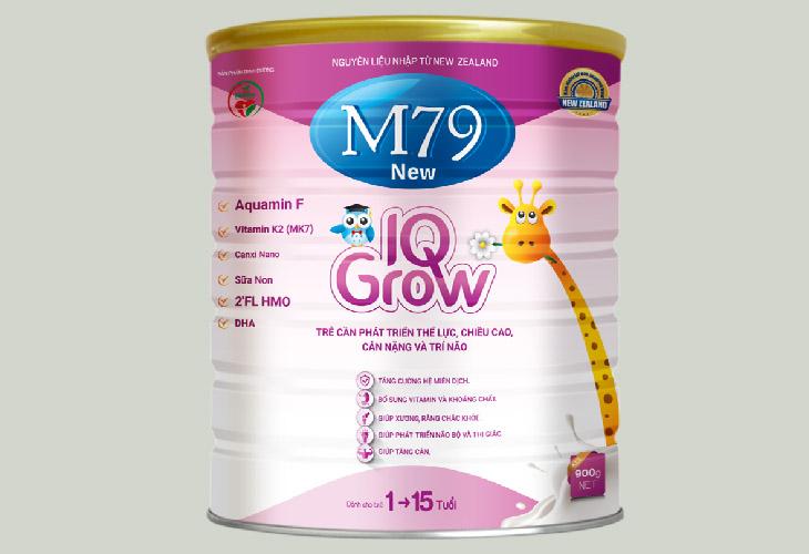 Sữa M79 New IQ Grow giúp trẻ tăng chiều cao