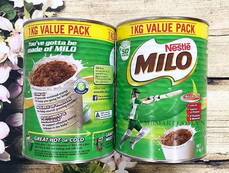 Sữa bột Milo của Úc có hương vị cacao thơm ngon