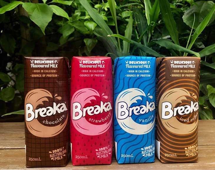 Breaka là sữa tươi đóng hộp, bổ sung canxi hỗ trợ tăng chiều cao cho trẻ