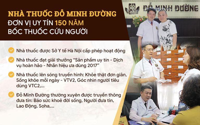 Nhà thuốc Đỗ Minh Đường uy tín suốt 150 năm