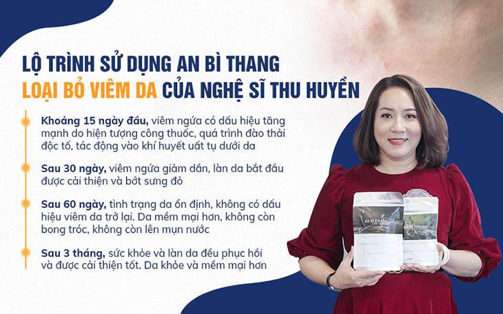 Nghệ sĩ Thu Huyền thành công trong chữa viêm da cơ địa với An Bì Thang