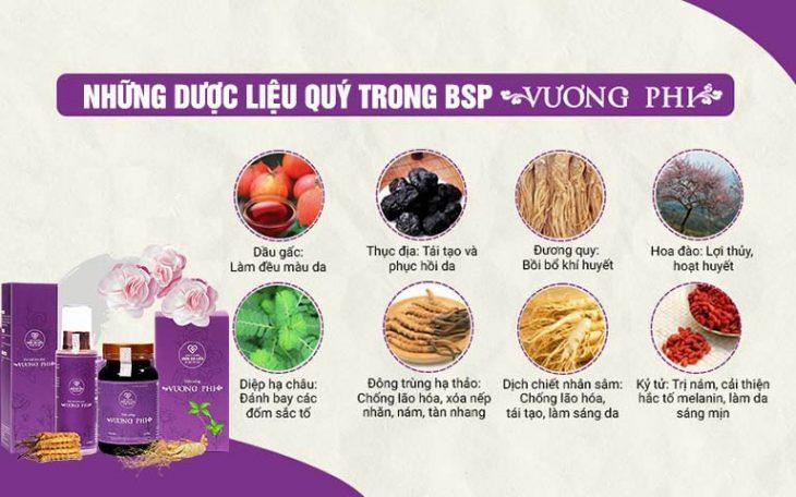 Bộ sản phẩm Vương phi hội tụ nhiều loại thảo dược quý hiếm có nguồn gốc từ cung đình