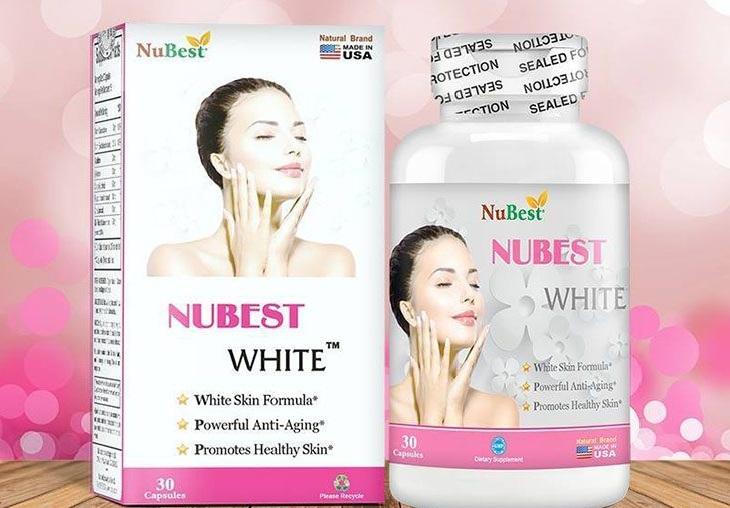 Viên uống khắc phục tàn nhang Nubest White có xuất xứ từ Mỹ