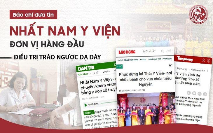 Nhất Nam Bình Vị Khang được báo chí đăng tải thông tin