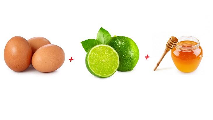 Làm mặt nạ bằng trứng gà, mật ong và chanh tươi cũng là mẹo được nhiều người áp dụng