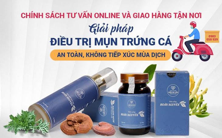 Viện Da liễu Hà Nội - Sài Gòn hỗ trợ dịch vụ thăm khám trực tuyến và giao hàng online trong mùa dịch bệnh