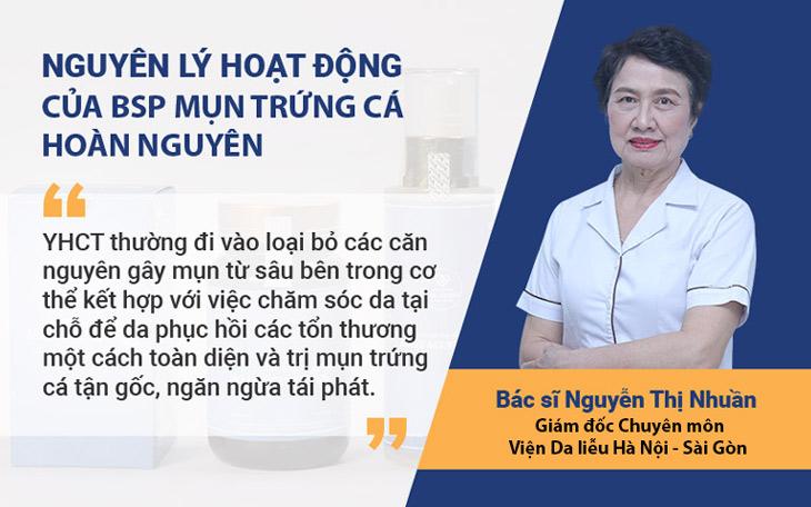 Bộ sản phẩm Mụn trứng cá Hoàn Nguyên hoạt động theo nguyên lý YHCT