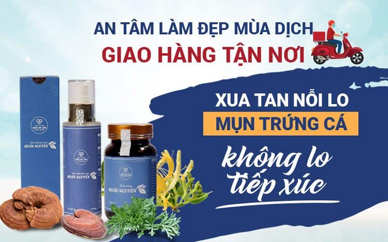 Viện Da liễu Hà Nội - Sài Gòn hỗ trợ dịch vụ tư vấn trực tuyến và giao hàng online