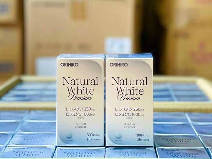 Viên uống trắng da của Nhật Orihiro Natural White Premium