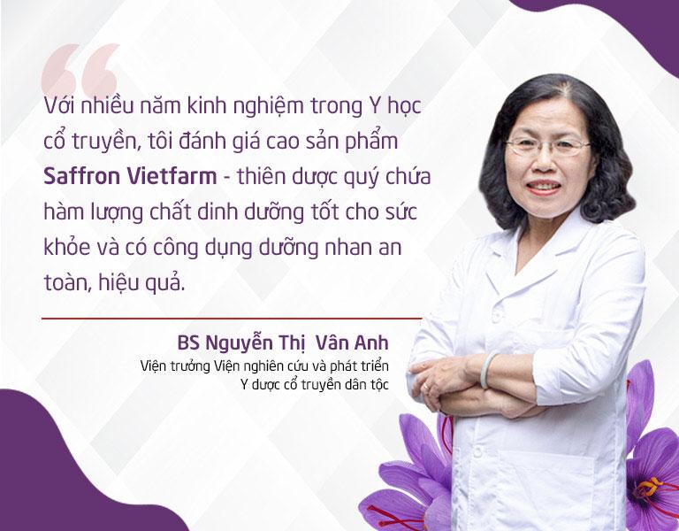 BS Nguyễn Thị Vân Anh bày tỏ quan điểm về Saffron Vietfarm