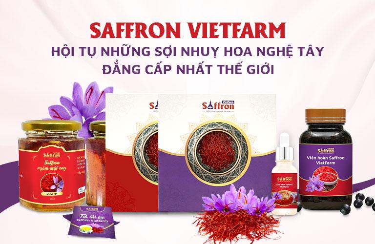 Một số sản phẩm của Saffron Vietfarm đang cung cấp ra thị trường