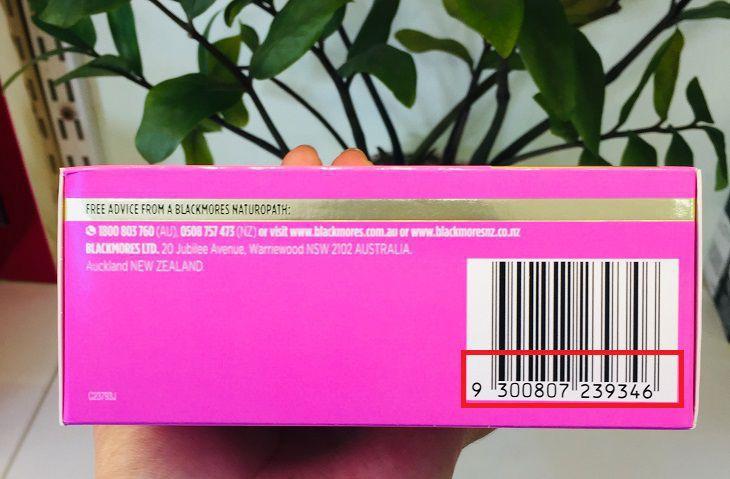 Bao bì có mã vạch rõ ràng, check ra thông tin là sản phẩm chính hãng