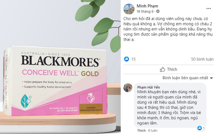 Thảo luận về Blackmore Conceive Well Gold trên Facebook