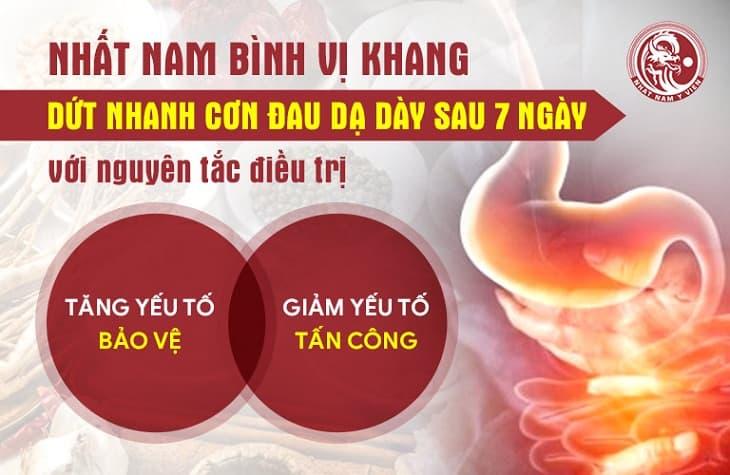 Nhất Nam Bình Vị Khang có chức năng tăng cường yếu tố bảo vệ dạ dày