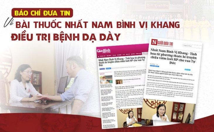 Báo chí đưa tin về bài thuốc Nhất Nam Định Tâm Khang