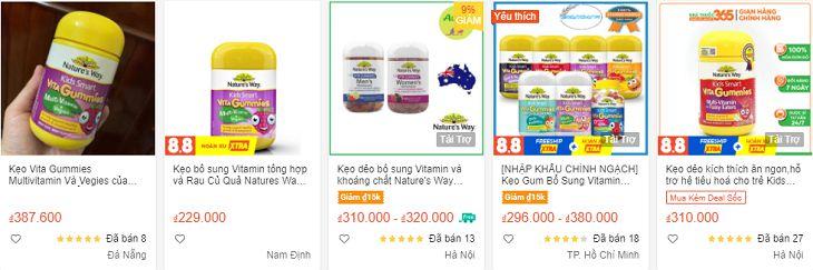 Sản phẩm được bán với nhiều mức giá khác nhau