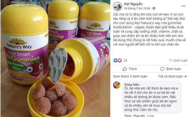 Thảo luận về Nature's Way Vita Gummies Multivitamin - Vegies trên Facebook