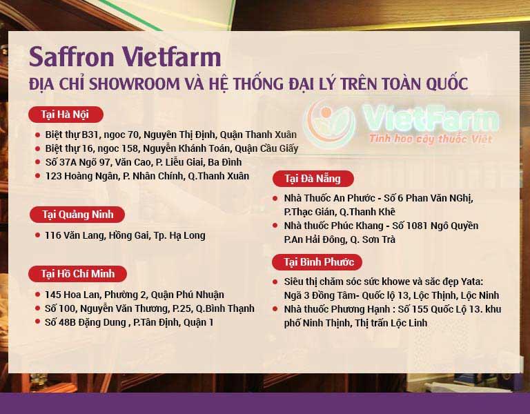 Đại lý của Saffron Vietfarm